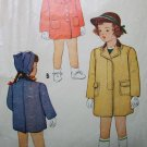 40s McCall 5315 Girls Coat Size 3 Years Breast 22