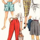 50s Simplicity 1128 Waist 26 Size 14 Shorts Pedal Pushers Pants