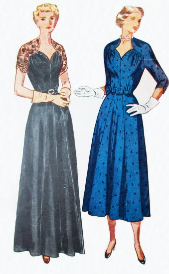 40s Plus Size Simplicity 3046 Bust 43 Size 24 and Half, New Look Day or Evening Dress