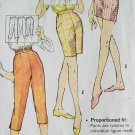 60s Simplicity Pattern 3435 Waist 28 Hip 38 Pedal Pushers Jamaica Shorts Shorts Proportioned Sizes