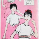 60s Advance Sew Easy Pattern 9320 Bust 32 Size 12 Blouse Underblouse Scalloped Back Buttoned Uncut