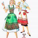 50s McCall's Pattern 2061 One Size Apron and Transfer Germanic Eastern Europe Inspired Hearts Unused