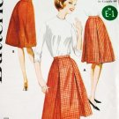 60s Vintage Butterick Sewing Pattern 2478 Waist 28 Hip 38 Pleated Skirt Easy Beginner Uncut
