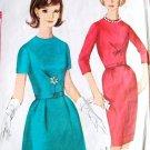 60s Simplicity Paris Fashion Dress Pattern 5663 Bust 34 Size 14 Mad Men Dress Slim or A Line Skirt