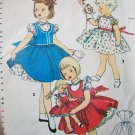 "50s Simplicity 4870 Breast 22 Size 3 Girls Dress 14, 17, 23"" Doll Outfit Bonny Braids Saucy Walker"