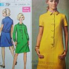 60s Simplicity 7473 Bust 38 Size 16 Dress Designer Fashion Back Belt Buttons Yoke A Line Mini Mod