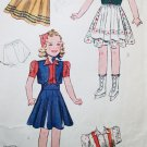 "30s Simplicity 2936 Doll Outfit Size 24"" Skating Boots Suspender Blouse Girdle Laced Bodice Dress"