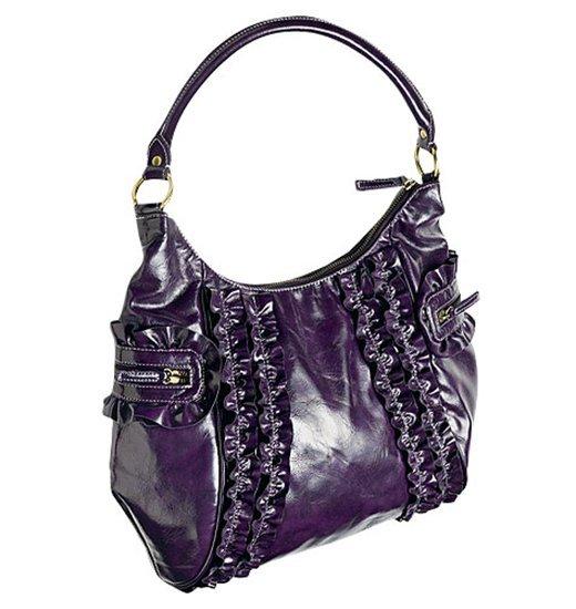 Uscale Ruffle Hobo Bag