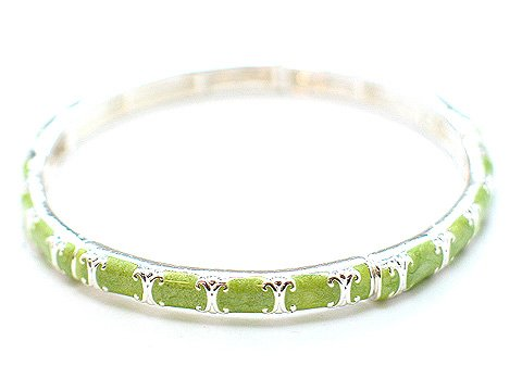 LIGHT OLIVE GREEN BANGLE BRACELET