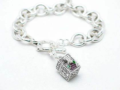 RELIGIOUS JOHN 3:16 GOD SO LOVED THE WORLD PRAYER BOX WORD INSPIRATIONAL BRACELET