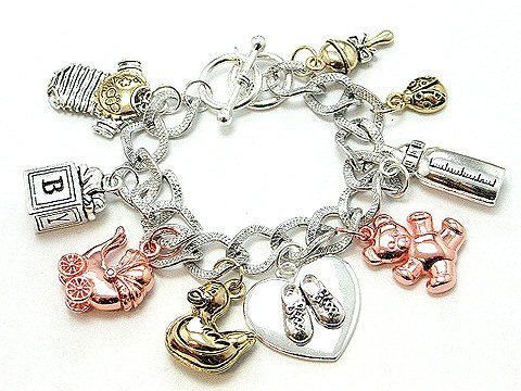 CHUNKY  FASHION NEW MOM TO BE MOTHER BABY SHOE BRACELET