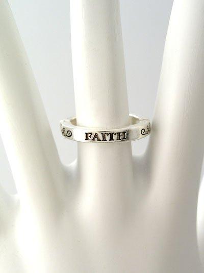 RELIGIOUS FILIGREE FAITH RING