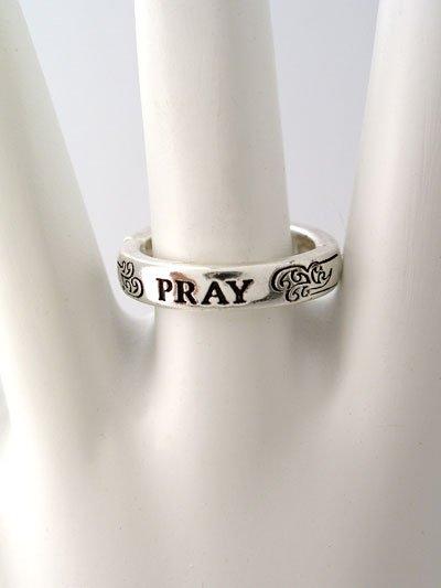 RELIGIOUS FILIGREE PRAY RING