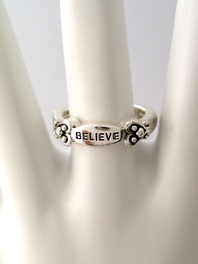 RELIGIOUS HEART LOVE BELIEVE RING