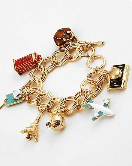 3D DESIGNER  STYLE WORLD TRAVEL EIFFEL BRACELET