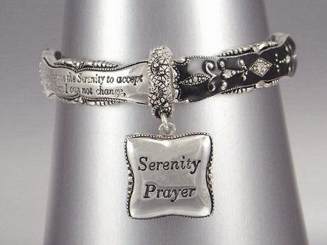 SERENITY PRAYER ALCOHOLICS ANONYMOUS AA WORD CRYSTAL BRACELET