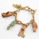 3D  LADIES SHOP CRYSTAL SHOE SHOES SANDALS BRACELET