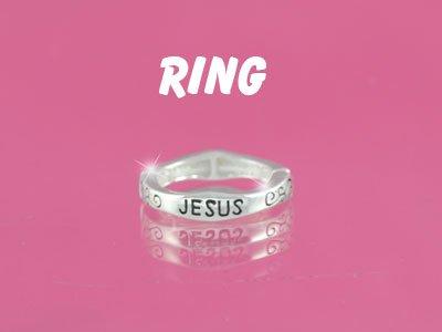NEW RELIGIOUS FILIGREE JESUS FAITH CHRISTIAN FISH RING