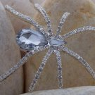HOT NEW CLEAR 85 CRYSTAL SPIDER BUG INSECT BROOCH PIN