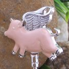 Flying Pig Pigs Guardian Angel Wings Handbag Purse Hook Caddy Holder