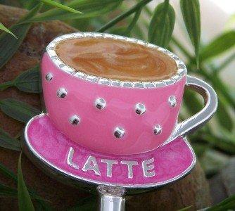 LATTE COFFEE MOCHA HANDBAG PURSE N' HOOK HANGER HOLDER