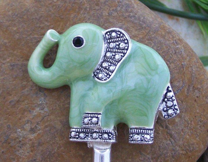 SAFARI JUNGLE ELEPHANT ANIMAL PRINT PURSE N' HOOK HANDBAG HANGER