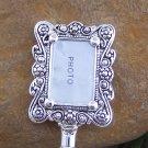 Photo Memory Frame Picture Silver Tone Handbag Purse Hook Caddy Holder