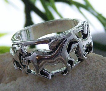 NEW WESTERN COWGIRL WILD HORSE PONY MUSTANG RING SIZE 8