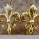 POLISHED GOLD TONE FRENCH FLEUR DE LIS CUFF LINKS