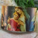 NEW RELIGIOUS VIRGIN MARY CATHOLIC BANGLE BRACELET