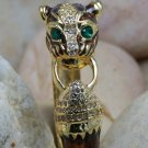 HOT NEW BROWN CRYSTAL COUGAR COUGARS CAT PANTHER BANGLE