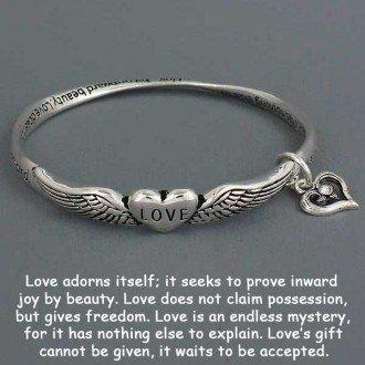 SISTERS LOVE HEART INSPIRATIONAL BRACELET