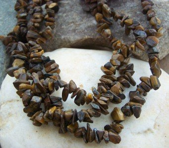 NEW BROWN WESTERN NATURAL STONE NUGGET NECKLACE SET