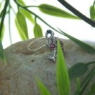 NEW PINK FLAMINGO BIRD ANIMAL AUSTRIAN CRYSTAL TOE RING