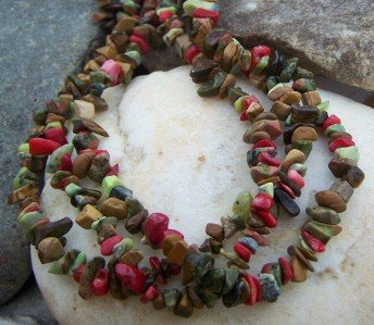 NEW BROWN MULTI WESTERN NATURAL NUGGET NECKLACE SET