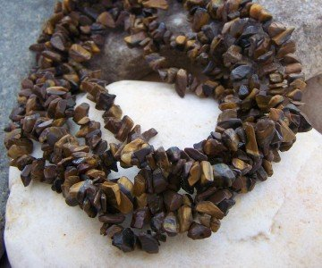 NEW BROWN 5 ROW WESTERN NATURAL NUGGET NECKLACE SET