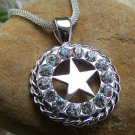 NEW CHUNKY CLEAR WESTERN TEXAS STAR LONESTAR NECKLACE