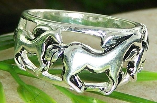 NEW WESTERN COWGIRL WILD HORSE PONY MUSTANG RING SIZE 9