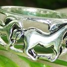 NEW WESTERN COWGIRL WILD HORSE PONY MUSTANG RING SIZE 5