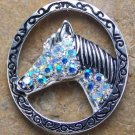 NEW WESTERN COWGIRL HORSE PONY 18 CRYSTAL KEY KEYCHAIN