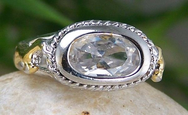 NEW CLEAR WESTERN COWGIRL HORSE PONY MUSTANG RING SZ 6