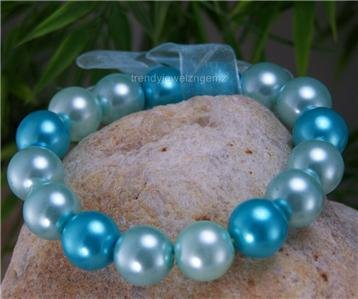 NEW AB AURORA BOREALIS BLUE FACETED BEAD BRACELET
