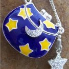 NEW BLUE MOON STAR STARS CRYSTAL PURSE BAG LOCKET SET