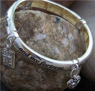 NEW RELIGIOUS PSALMS 92:2 MY REFUGE FORTRESS BRACELET
