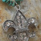 NEW WESTERN FLEUR DE LIS CRYSTAL NATURAL NUGGET SET