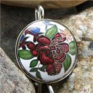 ANTIQUE VINTAGE STYLE FLORAL FLEUR KEY KEYCHAIN FINDER