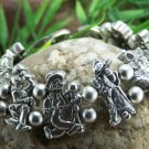 NEW ANTIQUE STYLE CLOWN CLOWNS BRACELET