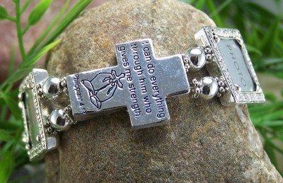 NEW RELIGIOUS CHRISTIAN PHILIPPIANS 4:13 PHOTO BRACELET