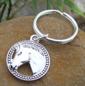 NEW WESTERN COWGIRL HORSE PONY MUSTANG KEY KEYCHAIN