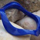 NEW CHIC BLUE WAVY CURVY BANGLE BRACELET